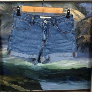 Pacsun high rise super stretch denim shorts